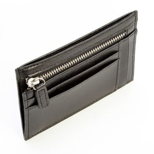 Royce Leather RFID Blocking Slim Card Case Wallet in Genuine Leather, Black (RFID-418-BLACK2)