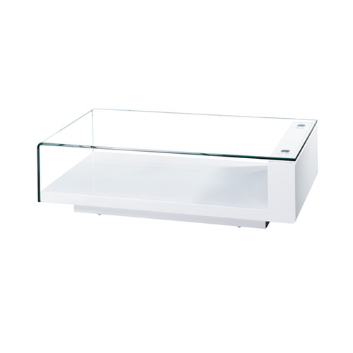 Bellini Modern Living Coffee, Console, Sofa & End Tables Scala Glass White High Gloss Coffee Table