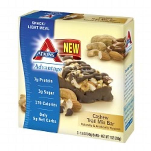 Atkins Advantage Snack Bars Cashew Trail Mix