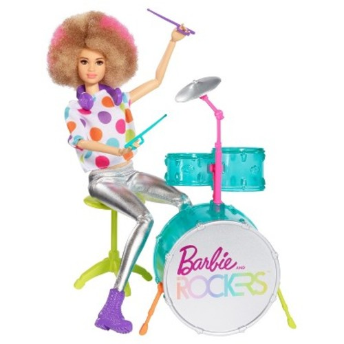 Barbie and the Rockers Doll and Drum Set