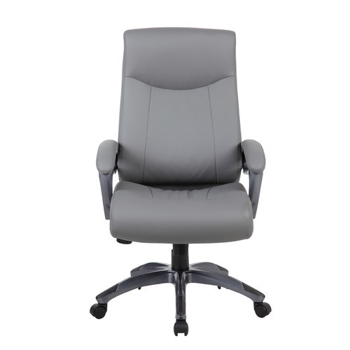 Boss Office Products Grey Pillow Top Executive Chair with Padded Arms