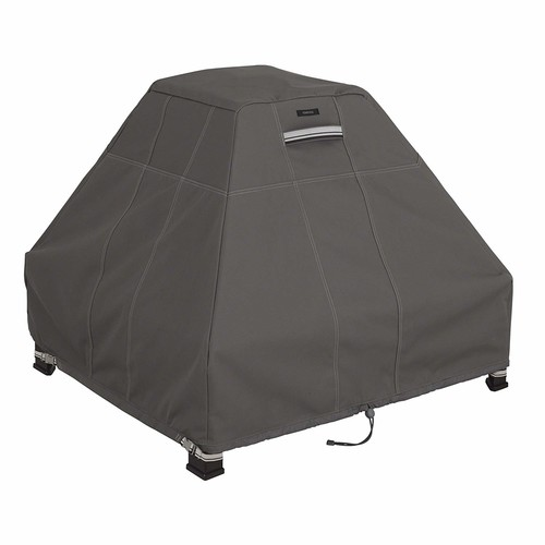 Classic Accessories Ravenna Stand-Up Fire Pit Cover - Premium Outdoor Cover with Durable and Water Resistant Fabric (55-183-015101-EC)