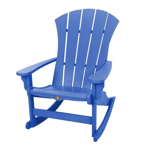 Sunrise Blue Adirondack Rocker - Blue