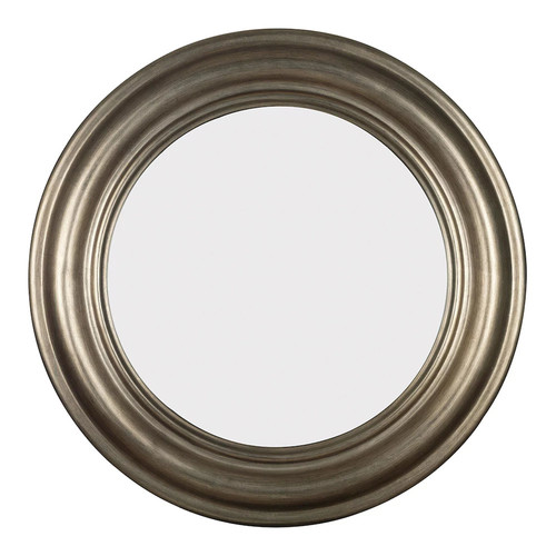 Home Decorators Collection Nob Hill 32 in. Round Polyurethane Framed Mirror
