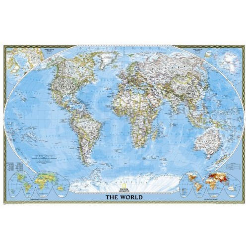 World Classic [Poster Size and Tubed] (National Geographic Reference Map)