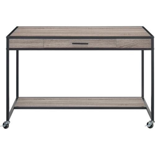 Ameriwood Altra Mason Ridge Mobile MDF/Metal Desk, Black/Sonoma Oak