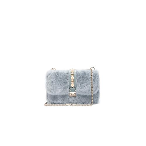 Valentino Medium Lock Shoulder Bag in Nube