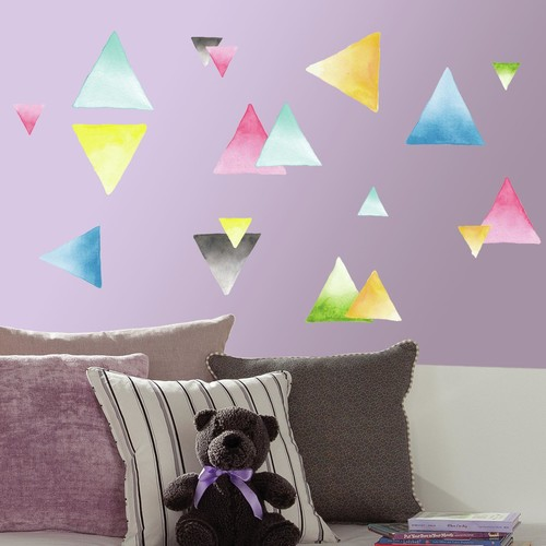 RoomMates Watercolor Triangle Peel and Stick Wall Decals