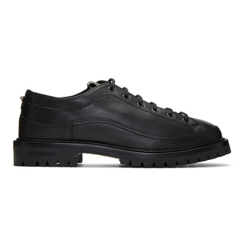 VALENTINO Black  Garavani Boot Sole Derbys