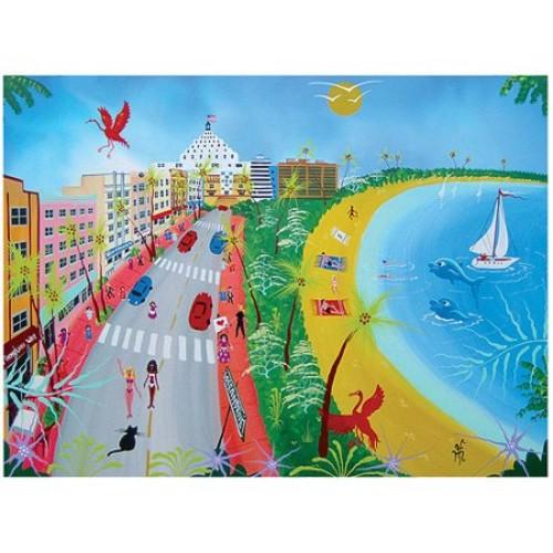 Ocean Drive II by Herbert Hofer, 24x32-Inch Canvas Wall Art