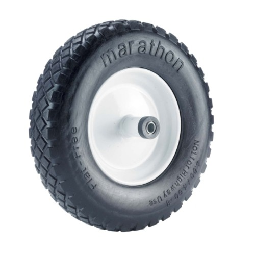 Marathon Flat Free Wheelbarrow Tire with Knobby Tread (00047)
