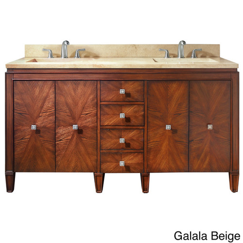 Avanity Brentwood 61-inch Single Vanity in New Walnut with Sink and Top [Finish : Beige Finish]