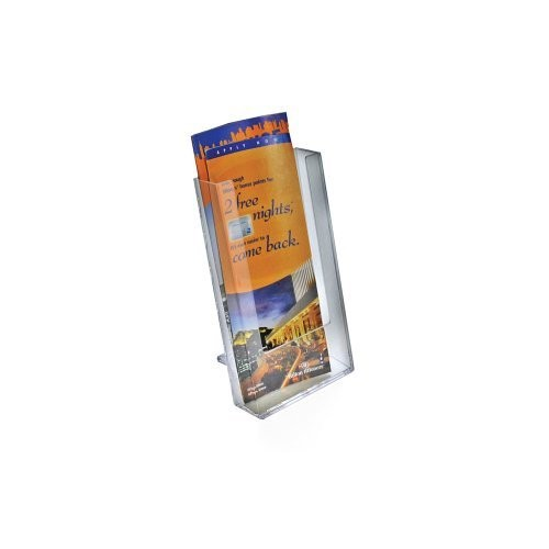 Azar 252300 Single Pocket Tri-Fold Size Brochure Holder for Counter, 10-Pack