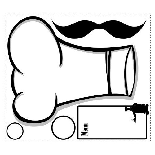 ROOMMATES RMK1727GM Chef's Hat Dry Erase Peel and Stick Giant Wall Decals