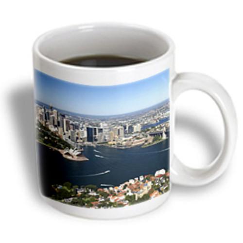 3dRose - Danita Delimont - Sydney - Australia Sydney Opera House Harbour Bridge -AU01 DWA3499 - David Wall - 11 oz mug