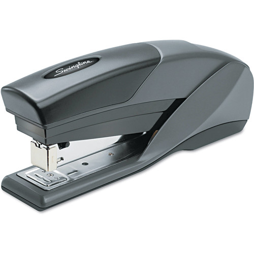 Swingline Stapler, Optima 25, Reduced Effort, Full Size, 25 Sheets Capacity, Gray/Orange (66402A)