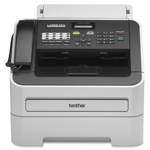 Brother Intellifax-2840 High-speed Laser Fax - Laser - Monochrome Sheetfed Digital Copier - 20 Cpm Mono - 300 X 600 Dpi - 250 Sheets Input - Plain Paper Fax - Corded Handset - 33.60 Kbps (FAX2840)