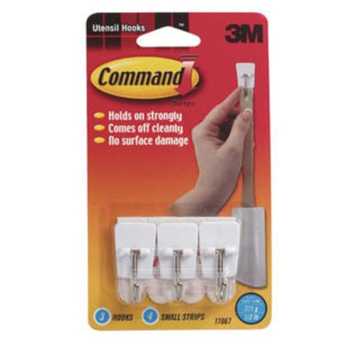 Command 17067 Utensil Hooks, White