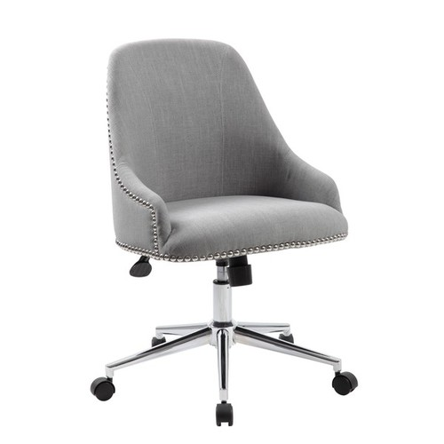 Boss Office Products Task Chairs Boss Carnegie Desk Chair [option : Peacock Blue]