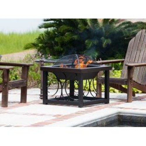 Well Traveled Living Hammer Tone Bronze Finish Cocktail Table Fire Pit