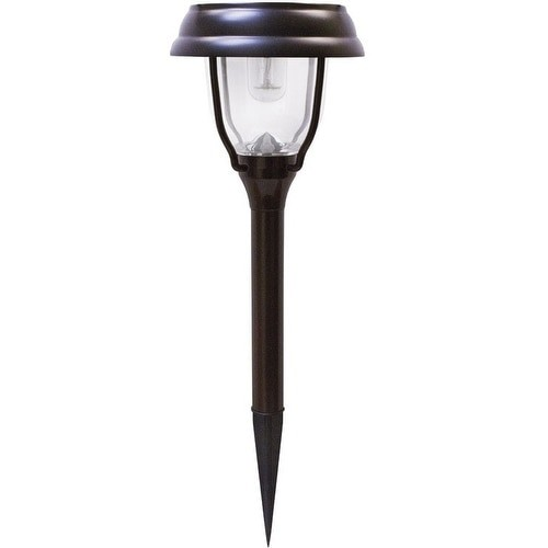Gama Sonic GS-145 Solar-Powered LED Garden Stake, Brown