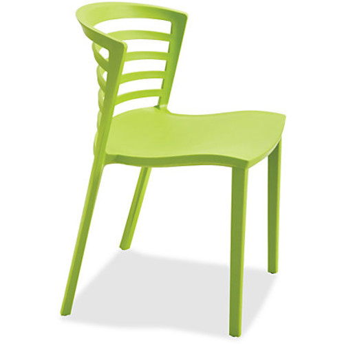 Safco Entourage Stack Chair - Grass (qty. 4) - Grass - 19.5