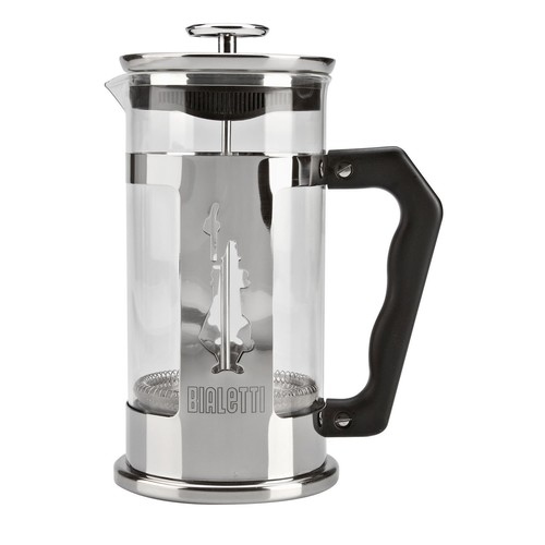 Bialetti Preziosa 8 Cup French Press Coffee Maker, Stainless Steel, Silver [8 Cup]