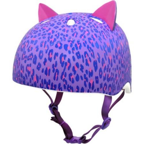 C-Preme Krash Youth Leopard Kitty Bike and Skate Helmet