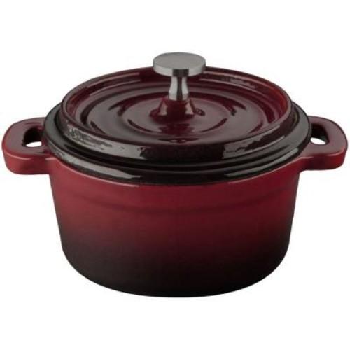 La Cuisine 4 in. Cast Iron Mini Round Casserole in Ruby