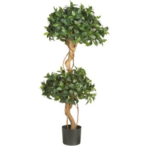 Sweet Bay Double Ball Round Topiary in Pot by Nearly Natural