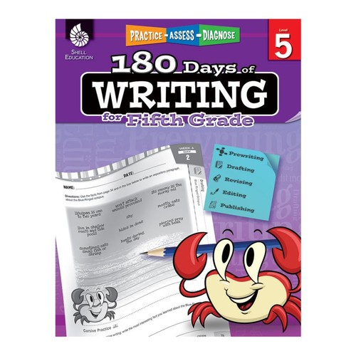 Shell Education 180 Days Of Writing Workbook, Grade 4