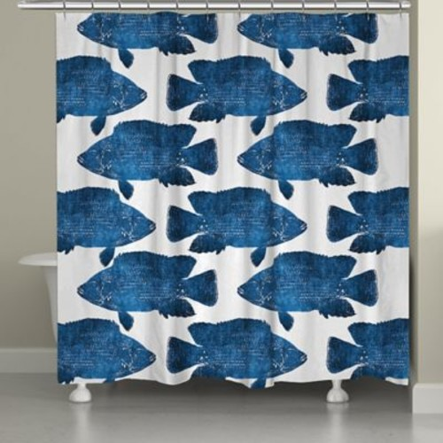 Longshore Tides Keilen Fish Shower Curtain