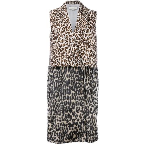 STELLA MCCARTNEY Sleeveless Leopard Print Coat