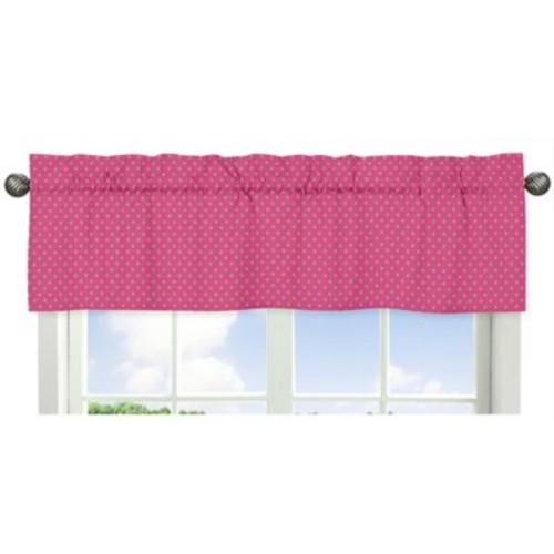 Sweet Jojo Designs Jungle Friends Polka Dot Window Valance in Pink