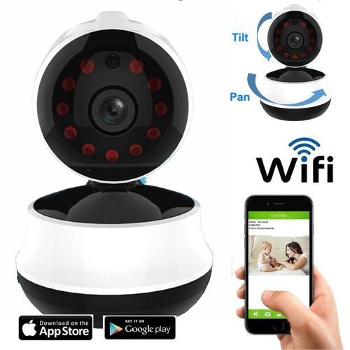 Coolcam Wireless HD 720p Wi-Fi Pan and Tilt Camera with 2-Way Audio and Night Vision