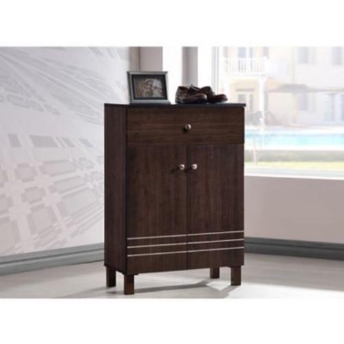 Wholesale Interiors Baxton Studio Felda 9-Pair Shoe Storage Cabinet
