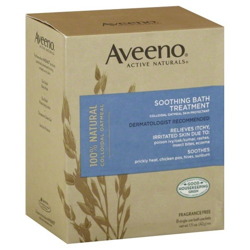 Aveeno Active Naturals Bath Treatment, Soothing, Colloidal Oatmeal, Fragrance Free, 8 packets 1.5 oz (42 g)