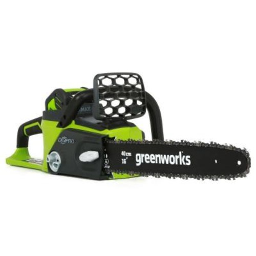 Greenworks Digipro 16 in. 40-Volt Brushless Lithium-Ion Cordless Chainsaw - 4.0 Ah Battery and Charger Included