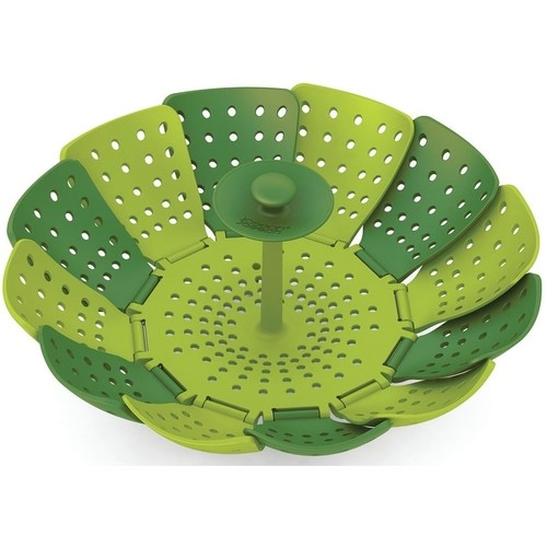 Joseph Joseph 40023 Lotus Plus Folding Non-Scratch Steamer Basket, Green