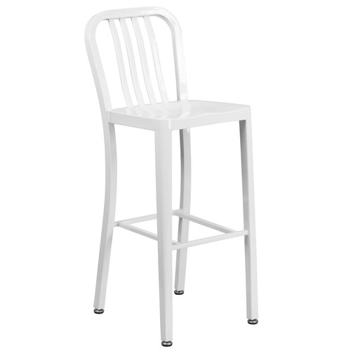 Flash Furniture 30.25 in. White Bar Stool