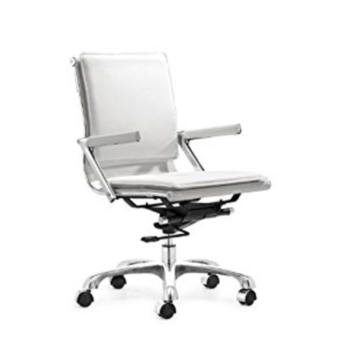 Zuo Modern Lider Plus Office Chair, White [White]