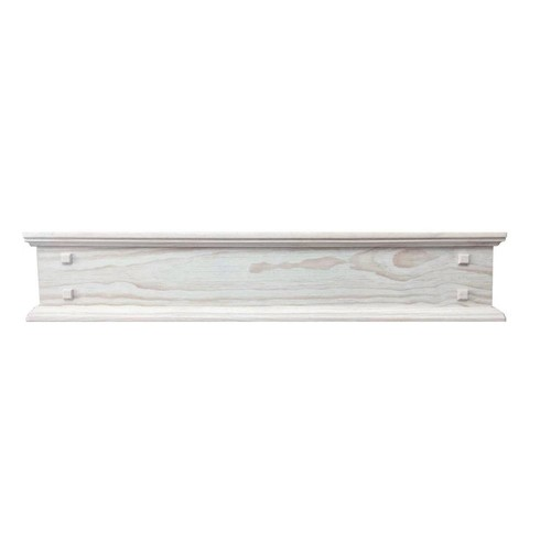 Pearl Mantels The Jackson 6 ft. Unfinished Distressed Cap-Shelf Mantel with Side Storage drawers