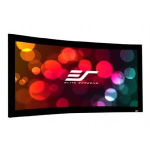 Elite Screens Lunette 2 Series Curve150WH2 - Projection screen - wall mountable - 150 in (150 in) - 16:9 - CineWhite - black