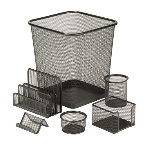 Honey-Can-Do 6-piece Steel Mesh Desk Set