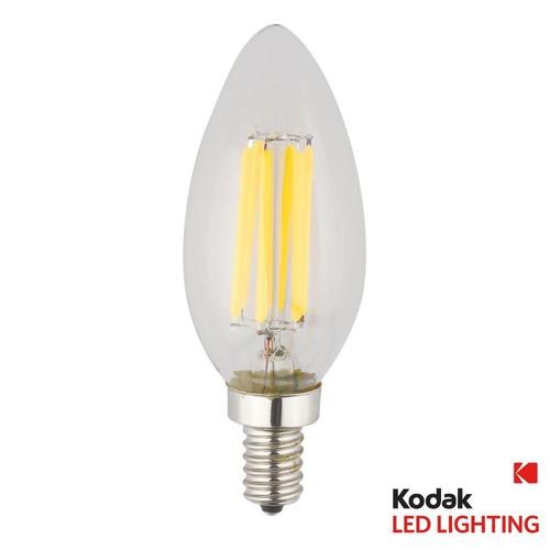 Kodak 55W Equivalent Warm White E12 Candle Torpedo Dimmable LED Light Bulb