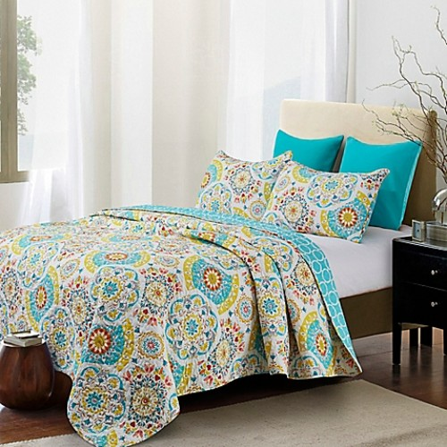 Mabel Reversible Full/Queen Quilt Set