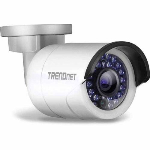 TRENDnet Outdoor 1.3 MP HD Network Camera - Bullet Camera, PoE, IR, H.264, 1280 x 960, Night vision up to 100ft, Program Motion Detection Recording and Email Alerts - TV-IP320PI