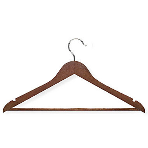 Honey Can Do Basic Suit Hanger with Non-Slip Bar, 8-Pack