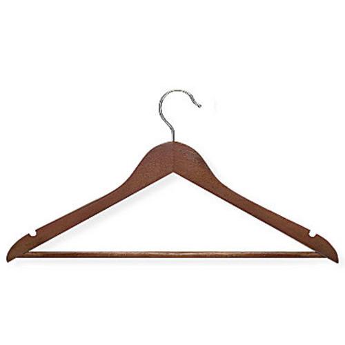Honey-Can-Do HNGT01207 Basic Suit Hanger with Non-slip Bar Cherry, 8-Pack [Cherry]