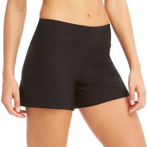 Women's Bally Total Fitness Flat Waist Yoga Shorts